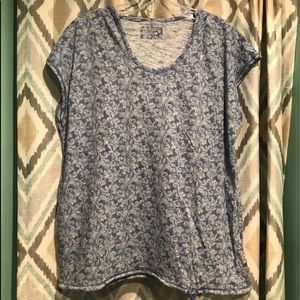 Ruff Hewn Womans Hooded Sleeveless Top. Blue PL